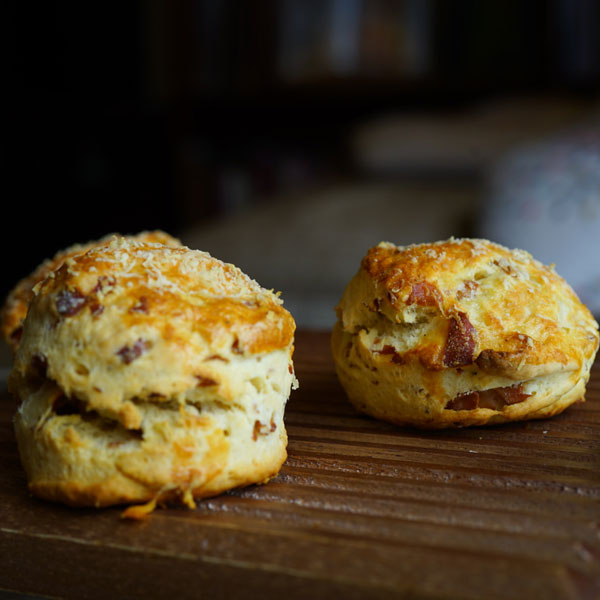 Scones with Mortadella Bologna IGP and Grana Padano Cheese